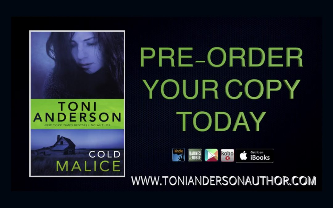 Book Trailer For Cold Malice by Toni Anderson, Preorder.